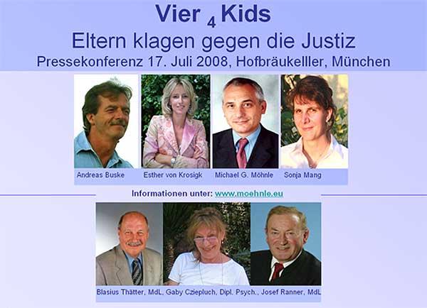 Zum Vergrößern aufklicken, Pressekonferenz am 17.07.08 in München